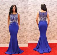 Elegant Nafy Blue Dange вечернее платье 2020 o шеи из бисера тонкий ужин платье женщин Pageant платье для официальной вечеринки выпускного вечера