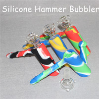 Smoking Showerhead Bong Hookahs Silicon Bubblers Recycler 18.8mm Bubbler Hammer Hookah Unbreakable With Glass Bowl DHL