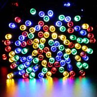 22m 200 LED Solar String Fairy Lights Wodoodporna moc Słoneczna 8 Tryby 7M 12M Światła słoneczne na Boże Narodzenie Halloween Garden Decoration