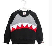 NEW ARRIVAL boys girl 100% cotton long Sleeve cartoon shark ...
