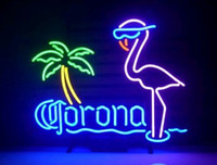 Neon Light Sign. LED signe Corona Neon Light Beer Bar Inscription Signes réel Verre Neon Light Beer Sign 43cm * 35cm