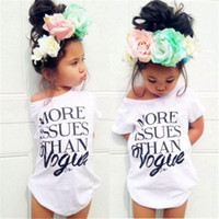 2016 New Cotton Clothes Vogue Kids Girls Summer Letter Print...