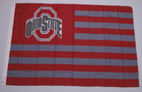 Bandeira do estado de 3ft x 5ft Ohio para a bandeira da bandeira do poliéster do NCAA com ilhós