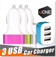 Für iPhone 6s Auto Ladegerät Traver Adapter Auto Stecker Heißer Verkauf Triple 3 USB Ports Auto Ladegerät 100pcs DHL ohne Paket