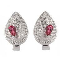 Kupfer rhodiniert Mode Ohrringe Förderung rot Zirkonia MN3120 edle großzügige Schatzmeister empfohlen schöne das neue Produkt