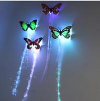 Aydınlık Işık Yukarı LED Saç Uzatma Flaş Örgü Parti Kız Saç Parlayan Tarafından Fiber Optik Tarafından Glow Noel Cadılar Bayramı Gece Işıkları Dekorasyon