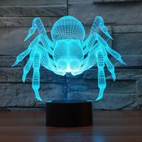 2017 New Design Spider 3D Optical Lamp Night Light 9 LEDs Ni...