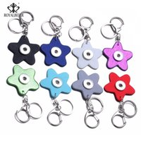 Wholesale 8 Colors Snap Star Keychain key chain Fit DIY 18mm...