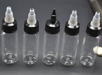 تصميم جديد 60ML PET زجاجة من البلاستيك زجاجة بالقطارة الصلبة مع تويست قبالة قبعات E السائل E عصير زجاجات منقار 2OZ