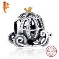 BELAWANG 925 Sterling Silver Pumpkin Car Charms Big Hole Bea...