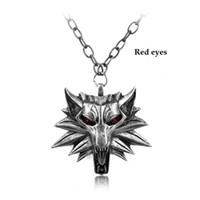 2016 горячие продажи кулон помощник Ведьмак 3 медальон кулон ожерелье Волк голова ожерелье U выбрать цвет Хэллоуин ожерелье и подвески