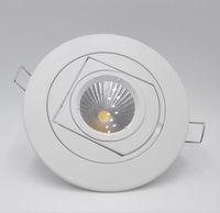 Prix de gros 10W lampe LED coffre Downlight COB 15W réglable encastré Super Bright intérieur Lumière 85 ~ 265V CE RoHS Garantie de 2 ans