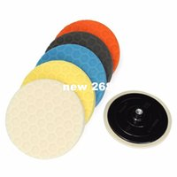 طقم تلميع للوجه بألواح 6 × 7 إنش من الألماس المحترف ولوحة تلميع برتقالي أصفر أزرق أسود بيج