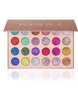 Sıcak Satış Yeni Cleof Kozmetik Süper Glitter Eyeshadow Palette 24 Colors Su geçirmez Sıkıştırılmış Göz Farı Pudra İçin Noel Makyaj DHL