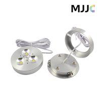 Faretti a LED dimmerabili a 12V da 3W a LED sotto le luci del puck light dell'armadio Bianco caldo ultra brillante, bianco naturale, bianco freddo per l'illuminazione della cucina