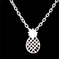 New Silver Gold Fruit Pineapple Pendant Necklace Chains Wome...