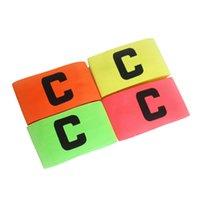Calcio Basket Calcio Sport C parole flessibile giocatore regolabile bande distintivo Capitan Bracciale accessorio 4 colori 2503059