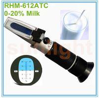 RHM-612ATC 0-20٪ الحليب الإنكسار الحليب المياه تستر الحليب مقياس الكثافة مقياس كثافة السوائل مع حقيبة حمل