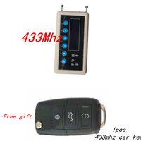 433MHzリモコン信号検出器無線リモートキーデコーダースキャナー+ A023ペアクローンカーキーリモコン