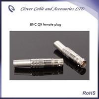 Бесплатная доставка 10 шт. / Лот без пайки BNC Q9 разъем для CCTV коаксиальный кабель