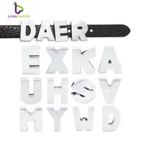 130 pcs 8mm Argent Plain Slide Lettres fit bracelet Alplabet Charms pour DIY Bracelet Bracelet LSSL09