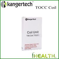 Kanger TOCC Coil tête pour T3S MT3S Clearomizer mèche japonaise 100% coton biologique d'origine T3S OCC remplacement Coil Head