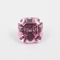 883d0f6ae56 200pcs lot free shipping AAA cubic zirconia pink asscher cut loose gem  stones