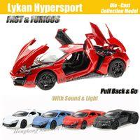 Modèle de voiture de sport de luxe en métal en alliage moulé sous pression à l'échelle 1:32 pour Lykan Hypersport pour FASTFURIOUS Collection modèle jouets de voiture