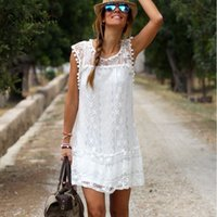 Summer Dress 2016 Women Casual Beach Short Dress Tassel Blac...