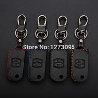 Mano pelle cucita Case Cover chiave auto per Mazda 3 5 6 8 Mazda CX-7 323 CX-9 2 pulsanti pieghevole chiave portachiavi accessori