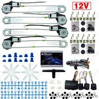 FeelDO DC12V Auto / Auto Universele 4 Deuren elektronice Power Window Kits met 8 stks / set Switces en harnas # 2845