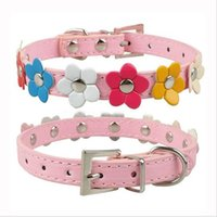 Fashion 6 Colors 4 Sizes Leather Puppy Pet Dog Collar Cat Ne...