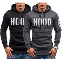 Men' s new solid color loose hooded sweater fashion casu...