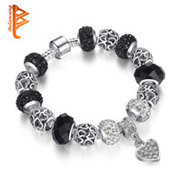 BELAWANG European Mysterious Black Murano Glass Beads Bracel...