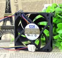 Toptan: AVC DE07015B12L 70 * 70 * 15 top PWM dört pin fan 7 CM fan AMD CPU akıllı hız kontrolü