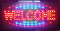 5 UNIDS / LOT Wholesale Business Welcome Business Shop Open LED Sign Sign Venta directa 10x19 pulgada Indoor LED Neon Sign para Tienda Signo de bienvenida