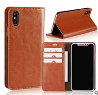Wallet Case For Iphone X Real Genuine Leather Cases Wallet B...