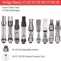 Original Itsuwa Amigo Liberty série verre réservoir V1 V3 V5 V6 V7 V8 V9 épaisse huile CO2 verticale en céramique bobine