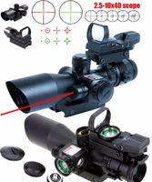 Новый Tactical 2.5-10x40 винтовка с красной лазерной голографической голографической зеленой красной точкой зрения