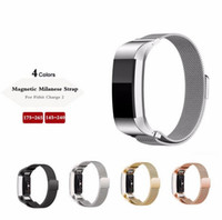 New Magnetic Milanese Loop Metal Band For Fitbit Charge 2 Ch...