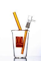 맥도날드 컵 오일 Dab Rig 유리 워터 버블 러 파이프 (퍼콜 레이터 8 인치 및 14mm 조인트 포함)