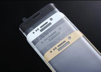 Nueva moda Cubierta completa de cristal templado 3D Protector de pantalla Protector Dureza Película para Samsung Galaxy S6 edge / S6 edge plus / S7 / S7 edge