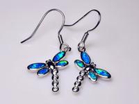 Großhandelseinzelhandel-Art und Weise feiner Feuer-Opal-Ohrringe 925 versilbern Schmucksachen für Frauen EJL1528007
