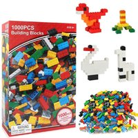 Building Blocks Toys 1000pcs DIY Bulk Bricks 10 Colors mixed...