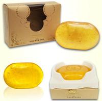 Rewitalizowanie Naprawa Uroda 24K Złote Czyszczenie twarzy Mydło do pielęgnacji twarzy Wybielanie skóry Handmade Soap Prezent Drop Shipping
