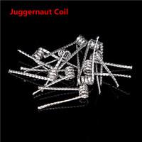 Autêntico Juggernaut bobina Bobina de Resistência Pré-construida 0.35ohm 26G * 32G * 2 Resistência Juggernaut Fio Fit RDA RBA E Cigarro DHL Livre