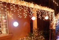 Novo 10 m * 0.5 m 320 LED faixa luzes LED String cortina luzes pingente festival 110 v - 220 v ue EUA AU plugue