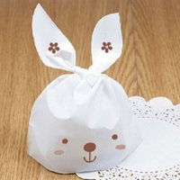 Cute 50pcs lot Rabbit Ear Cookie Bags Food- grade Plastic Can...