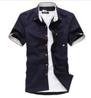 2016 yaz erkek elbise gömlek kişilik küçük mantar nakış Kore İnce gömlek erkekler kısa kollu gömlek