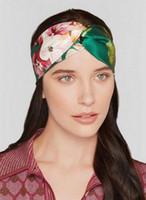 Retro mujeres turbante elástico torcido anudado venda de seda del pelo de la flor accesorios de la fiesta de fiesta accesorios para el cabello
